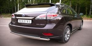 Lexus RX270/350/450 защита заднего бампера d63/42 LRXZ-000410